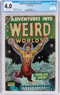 Golden Age (1938-1955):Horror, Adventures Into Weird Worlds #26 (Atlas, 1954) CGC VG 4.0 Off-whitepages....