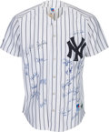 Baseball Collectibles:Uniforms, 1999 New York Yankees Team Signed Jersey. ...