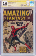 Silver Age (1956-1969):Superhero, Amazing Fantasy #15 Signature Series (Marvel, 1962) CGC GD 2.0 Cream to off-white pages....