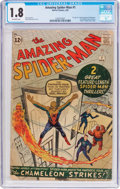 Silver Age (1956-1969):Superhero, The Amazing Spider-Man #1 (Marvel, 1963) CGC GD- 1.8 Off-whitepages....