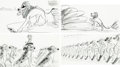 "Animation Art:Production Drawing, The Lion King ""Be Prepared"" Storyboard Group of 4 (WaltDisney, 1994). ... (Total: 4 Items)"