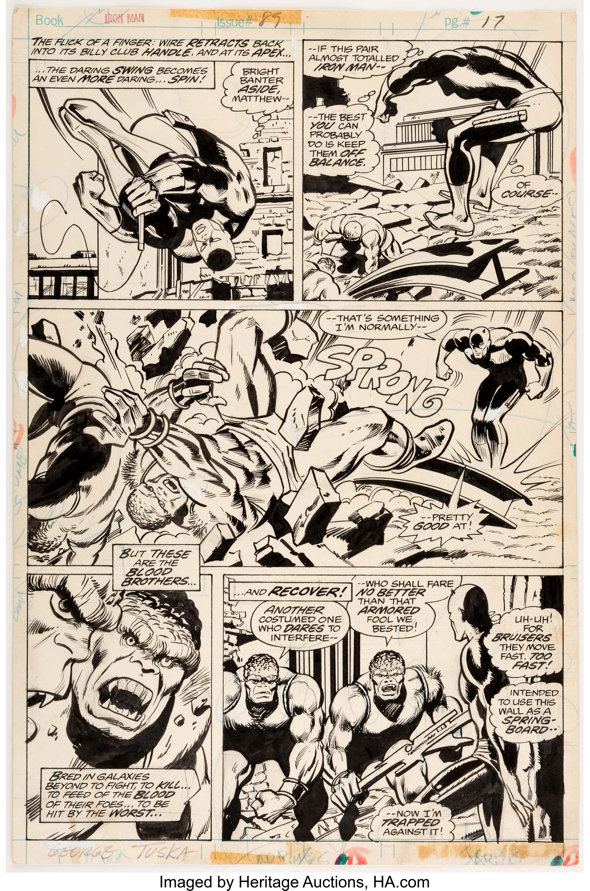 George Tuska And Vince Colletta Iron Man 89 Story Page 11 Lot 13127 Heritage Auctions