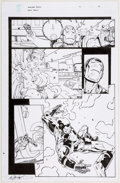 Original Comic Art:Panel Pages, Dave Ross and Bob Layton Iron Man #258.4 Story Page 19 WarMachine Original Art (Marvel, 2013)....