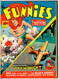 Golden Age (1938-1955):Miscellaneous, The Funnies #57-62 File Copies Bound Volume (Dell, 1941)....