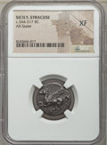 Ancients:Greek, Ancients: SICILY. Syracuse. Ca. 344-317 BC. AR stater. NGC XF....