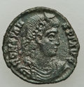 Ancients:Ancient Lots  , Ancients: GROUP LOTS. Roman Imperial. Lot of two (2) Constans AE4swith Christograms. XF-About AU.... (Total: 2 coins)