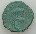 Ancients:Ancient Lots , Ancients: GROUP LOTS. Roman Imperial. Lot of two (2) Augustus AEasses with countermarks. Fine.... (Total: 2 coins)