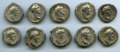Ancients:Ancient Lots , Ancients: GROUP LOTS. Roman Imperial. Lot of ten (10) AntoninusPius (AD 138-161), AR denarii. Fine-Choice VF.... (Total: 10 coins)