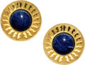 Estate Jewelry:Earrings, Sodalite, Gold Earrings, Lalaounis . ...