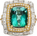 Estate Jewelry:Rings, Tourmaline, Diamond, Gold Ring  The ring featu...