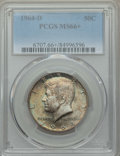 Kennedy Half Dollars, 1964-D 50C MS66+ PCGS. PCGS Population: (799/61 and 48/3+). NGCCensus: (471/15 and 1/0+). Mintage 156,205,440. ...