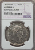 Mexico, Mexico: Maximilian Peso 1866-Mo AU Details (Surface Hairlines)NGC,...