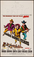 "Movie Posters:Western, Three Guns for Texas (Universal, 1968). Window Card (14"" X 22""). Western.. ..."