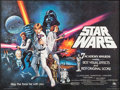 "Movie Posters:Science Fiction, Star Wars (20th Century Fox, 1977). British Quad (30"" X 40"").Academy Awards Style C. Science Fiction.. ..."