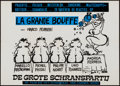 "Movie Posters:Foreign, La Grande Bouffe (Euro Centra Film, 1973). Dutch Poster (15.75"" X 22""). Foreign.. ..."