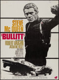 "Movie Posters:Crime, Bullitt (Warner Brothers, 1968). French Moyenne (23"" X 31.5"").Crime.. ..."