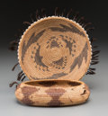 American Indian Art:Baskets, Two Pomo Coiled Basketry Items... (Total: 2 Items)