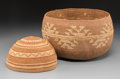 American Indian Art:Baskets, Two Hupa Twined Basketry items... (Total: 2 Items)