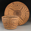 American Indian Art:Baskets, Two Pima Coiled Baskets... (Total: 2 Items)