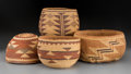 American Indian Art:Baskets, Four Northern California Twined Items... (Total: 4 Items)