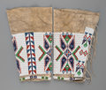 American Indian Art:Beadwork and Quillwork, A Pair of Sioux Beaded Hide Leggings... (Total: 2 Items)