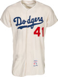 Baseball Collectibles:Uniforms, 1963 Jack Smith Game Worn Los Angeles Dodgers Jersey. ...