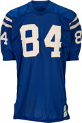 Football Collectibles:Uniforms, Early 1970's Tom Mitchell Game Worn & Signed Baltimore Colts Jersey....