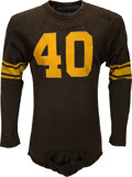 Football Collectibles:Uniforms, 1951-54 George Hughes Game Worn Pittsburgh Steelers Jersey....