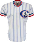 Baseball Collectibles:Uniforms, 1983 Don Mattingly Signed Game Worn Columbus Clippers Jersey....