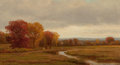 Paintings, James Renwick Brevoort (1832-1918). Autumn Landscape, 1865. Oil on canvas. 7-1/2 x 13-1/2 inches (19.1 x 34.3 cm). Signe...