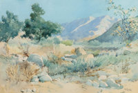 Elmer Wachtel (1864-1929) Desert Landscape, 1910 Watercolor on paper 10-7/8 x 16 inches (27.6 x 4