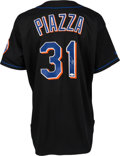 Baseball Collectibles:Uniforms, 1998 Mike Piazza Signed Game Worn New York Mets Jersey....