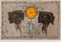 Fine Art - Work on Paper:Print, Francisco Larez (b. 1936). Variation, 1968. Monoprint in colors on paper. 36 x 48 inches (91.4 x 121.9 cm) (sheet). Ed. ...