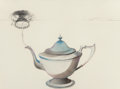 Fine Art - Work on Paper:Drawing, W.A.S. Hatch (20th Century). Silver Tea Pot, n.d..Lithograph and pencil on paper. 22 x 30 inches (55.9 x 76.2 cm)(shee...