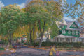 Fine Art - Painting, American:Contemporary   (1950 to present)  , Irene Buszko (b. 1947). Canopy of Elm Trees, 1988. Oil on canvas. 30 x 44-1/2 inches (76.2 x 113.0 cm). Signed and dated...