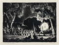 Fine Art - Work on Paper:Print, Peter Hurd (1904-1984). Sermon from Revelations, n.d.. Lithograph on paper. 10 x 13-3/8 inches (25.4 x 34.0 cm) (image)...
