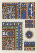 Fine Art - Work on Paper:Print, Owen Jones (1809-1874). Arabian No. 1-5 from The Grammarof Ornament (five works), 1856. Lithographs in colorso... (Total: 5 Items)