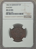 German States:Saxony, German States: Saxony. Quartet of Certified Coins,... (Total: 4 coins)