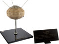 Explorers:Space Exploration, NASA/ Canadian Vintage ALOUETTE Satellite Model on Stand withEngraved Plaque, 1/8 Scale....