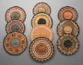 American Indian Art:Baskets, Ten Hopi Polychrome Twined Plaques... (Total: 10 Items)