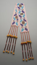 American Indian Art:Beadwork and Quillwork, A Winnebago Loom-Woven Sash...