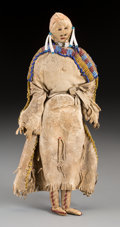 American Indian Art:Beadwork and Quillwork, A Sioux Beaded Hide Female Doll ...