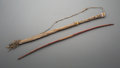 American Indian Art:Pipes, Tools, and Weapons, A Cheyenne Beaded Hide Bow Case and Bow... (Total: 2 Items)