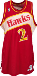 Basketball Collectibles:Uniforms, 1988-89 Moses Malone Game Worn Atlanta Hawks Jersey - PhotoMatched!...