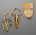 American Indian Art:Beadwork and Quillwork, Two Southern Plains Beaded Hide Pouches ... (Total: 2 Items)