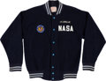 "Explorers:Space Exploration, James Lovell Owned and Worn NASA Jacket with ""J. A. Lovell Jr""Nametag and President's Council on Physical Fitness & SportsPa..."