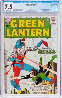 Green Lantern #1 (DC, 1960) CGC VF- 7.5 Off-white pages