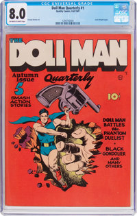 Doll Man Quarterly #1 (Quality, 1941) CGC VF 8.0 Off-white to white pages