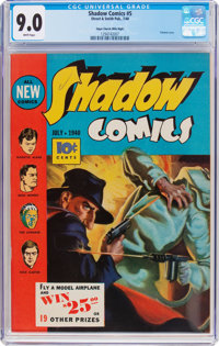 Shadow Comics #5 Mile High pedigree (Street & Smith, 1940) CGC VF/NM 9.0 White pages