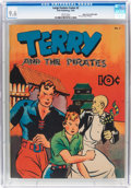 Golden Age (1938-1955):Adventure, Large Feature Comic (Series I) #2 Terry and the Pirates - Mile High Pedigree (Dell, 1939) CGC NM+ 9.6 White pages....